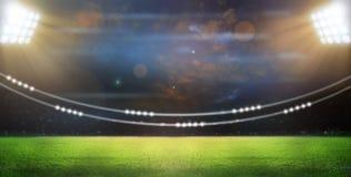 Stade dans les lumières Photographie stock