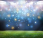 Stade dans les lumières Images libres de droits