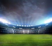 Stade dans les lumières Photo stock