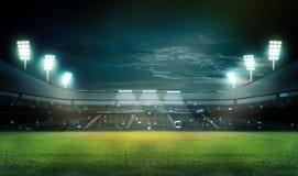 Stade dans les lumières Image libre de droits