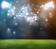 Stade dans les lumières Images stock
