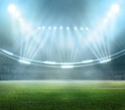 Stade dans les lumières Photographie stock libre de droits