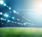 Stade dans les lumières Image stock