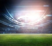 Stade dans les lumières et les flashes 3d Photographie stock libre de droits