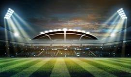 Stade dans les lumières et les flashes 3d Images stock