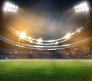 Stade dans les lumières et les flashes 3d Photographie stock