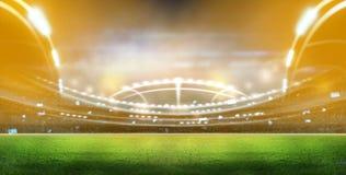 Stade dans les lumières et les flashes 3d Image libre de droits