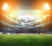 Stade dans les lumières et les flashes 3d Photo libre de droits
