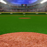 Stade de base-ball avec l'espace de copie photographie stock libre de droits