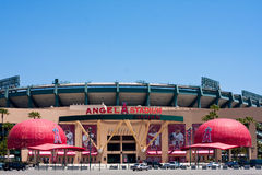 Stade de base-ball d'anges de Los Angeles Images stock