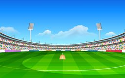 Stade de cricket Photographie stock libre de droits