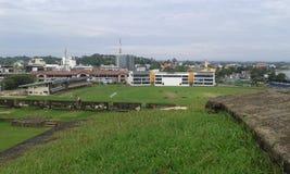 Stade de cricket de Galle et support d'autobus Photographie stock