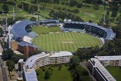 Stade de cricket de vagabonds - vue aérienne Photographie stock libre de droits