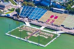 Stade de flotteur à Singapour images libres de droits