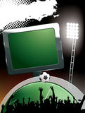 Stade de football illustration libre de droits