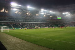 Stade de football Photos stock