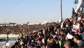 Stade de football Photographie stock libre de droits