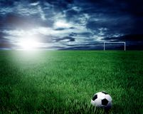 Stade de football Images stock
