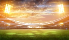 Stade de football 3D Photo libre de droits