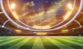 Stade de football 3D Photographie stock libre de droits