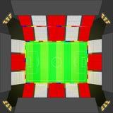 Stade de football dans le style britannique illustration de vecteur