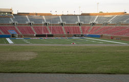 Stade de football dans SMU Dallas TX images stock