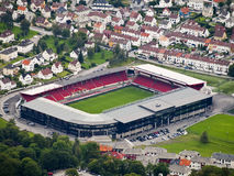 Stade de football de Bergen Photos stock