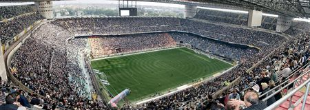 Stade de football de Meazza Images stock