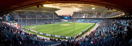 Stade de football de Vicente Calderon, Madrid Photographie stock