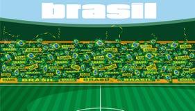 Stade de football du Brésil illustration de vecteur