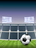 Stade de football et champ du football Image libre de droits