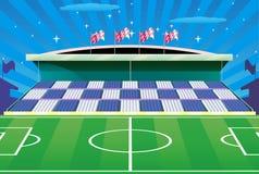 Stade de football et tribune détaillée. images libres de droits