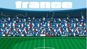 Stade de football de Frances illustration libre de droits