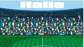 Stade de football de l'Italie illustration stock