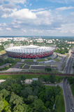 Stade de football national à Varsovie, Pologne Photographie stock