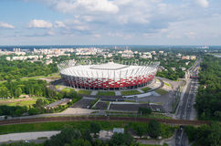 Stade de football national à Varsovie, Pologne Photos libres de droits