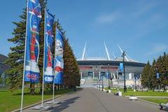 Stade de football pour la coupe du monde 2018 à St Petersburg Image libre de droits