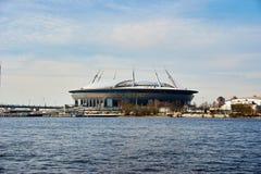 Stade de football de St Petersburg, Russie Photo libre de droits