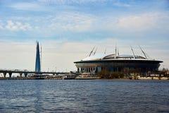 Stade de football de St Petersburg, Russie Images stock