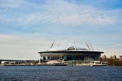 Stade de football de St Petersburg, Russie Photos stock