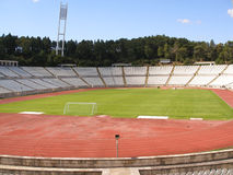 Stade de football vide Photo libre de droits