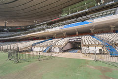 Stade de France. At the tribune of Stade de France stadium. Paris Stock Image