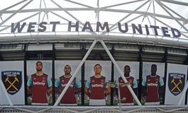 Stade de Londres - détail d'extérieur Photographie stock