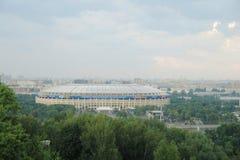 Stade de Luzhniki sur les collines de moineau à Moscou Russie Image libre de droits