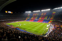 Stade de Nou de camp Images libres de droits