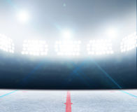 Stade de piste de hockey sur glace Photos libres de droits