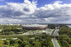 Stade de ressortissant de Varsovie Images libres de droits