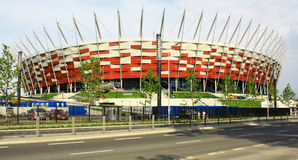 Stade de ressortissant de VARSOVIE, POLOGNE, Varsovie Images stock