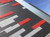 Stade de sport moderne dans Koszalin Pologne Photo libre de droits