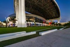 Stade de stationnement de marlins Images libres de droits